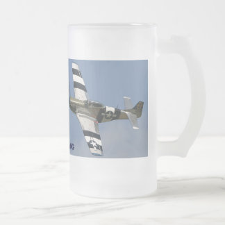 P-51 MUSTANG FROSTED GLASS MUG