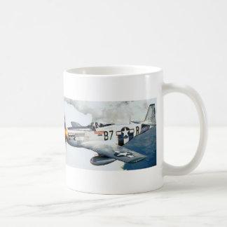 p-51 mustang classic white coffee mug
