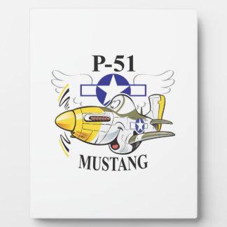 p-51 mustang plaque
