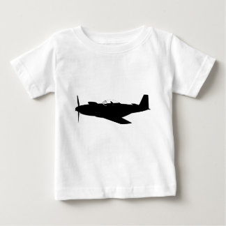 P-51 Mustang Silhouette Baby T-Shirt