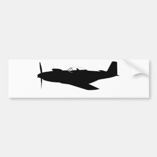 P-51 Mustang Silhouette Bumper Sticker