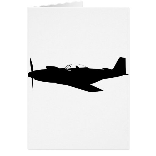 P-51 Mustang Silhouette Cards