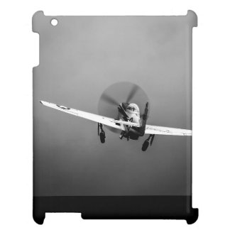 P-51 Mustang takeoff in storm iPad Case
