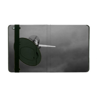 P-51 Mustang takeoff in storm iPad Folio Case