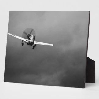 P-51 Mustang takeoff in storm Plaque