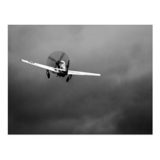 P-51 Mustang takeoff in storm Postcard