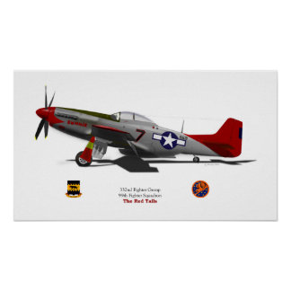 P-51D Tuskegee Poster