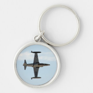 P-80 Shooting Star Silver-Colored Round Key Ring