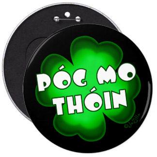 Póg Mo Thóin Shamrock 6 Cm Round Badge
