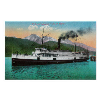 P C Co s Steamer City of Seattle Print