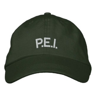P.E.I. Baseball Cap Embroidered Canada Cap