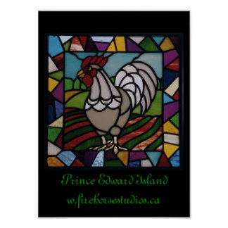 P.E.I Rooster Poster