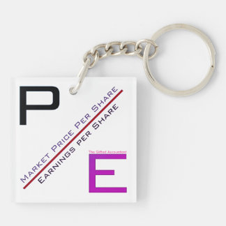 """P/E Ratio"" Key Ring"