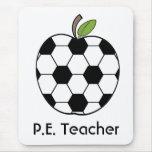 P.E. Teacher Soccer Ball Apple Mousepad