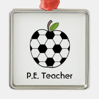 P.E. Teacher Soccer Ball Apple Ornament