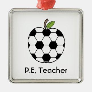P.E. Teacher Soccer Ball Apple Ornament