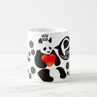 P for Panda Basic White Mug