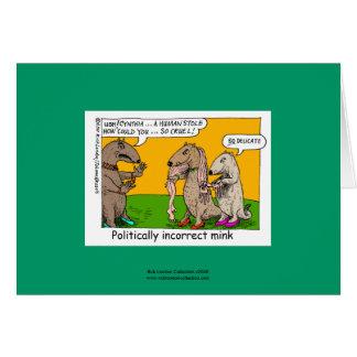 P.I. Mink (Human Stole) Cartoon Greeting Card