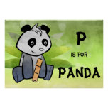 P is for Panda Poster