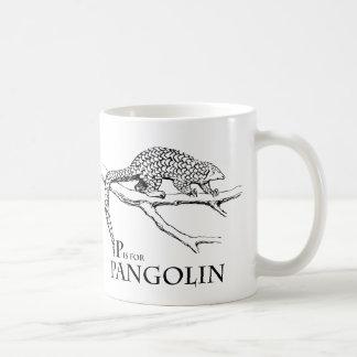 P is for Pangolin mug