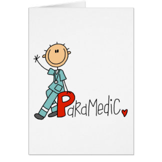 P is for Paramedic Greeting Card