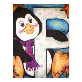 P is for Penguin Postcard