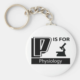 P Is For Physiology Basic Round Button Key Ring