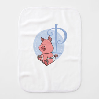 P is for Pig Burp Cloth