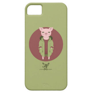 P is for Pig in a Parka and with Pearls iPhone 5 Covers