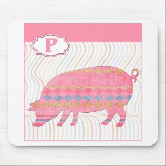 P is for Pig Mouse Pad