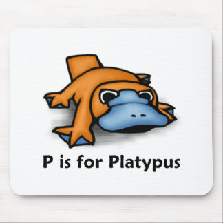 P is for Platypus Mouse Mat
