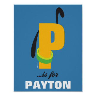P is for Pluto | Add Your Name Poster
