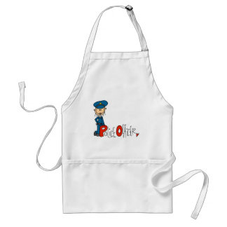 P is for Police Officer Adult Apron