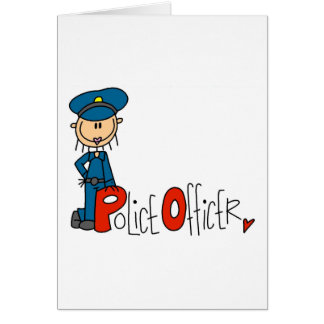 P is for Police Officer Greeting Cards