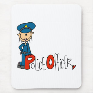 P is for Police Officer Mouse Mat