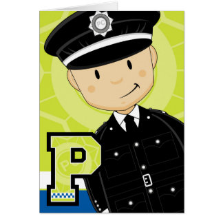 P is for Policman Card