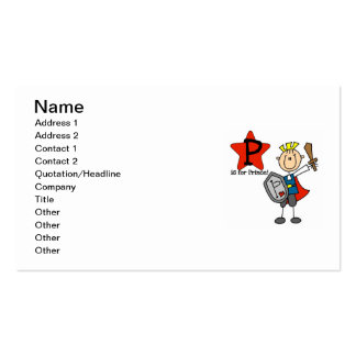 P is for Prince Pack Of Standard Business Cards