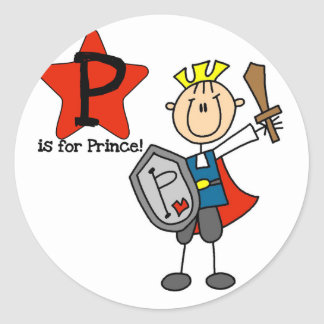 P is for Prince Tshirts and Gifts Stickers