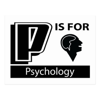 P Is For Psychology Postcard
