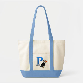 P is for Puffin Tote Bag