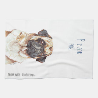 P is for Pug Tea Towels