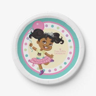 "P.J. Tuttles Tutu Princess, Custom Paper Plates 7"" 7 Inch Paper Plate"