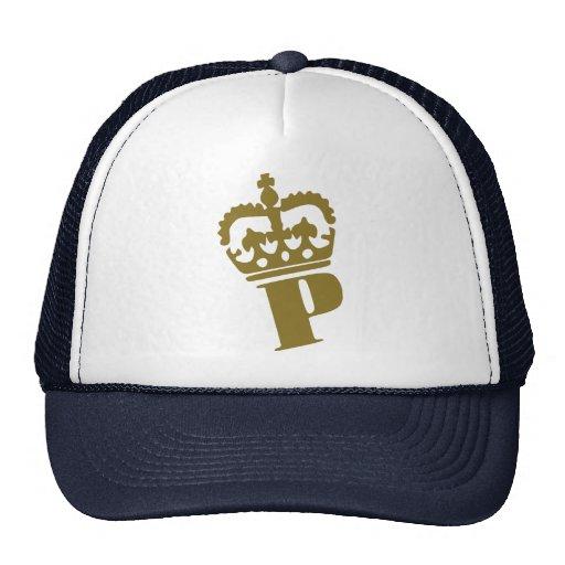 P - Letter - Name Mesh Hat