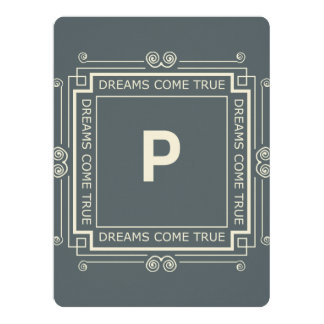 P Monogram Standard white envelopes included 17 Cm X 22 Cm Invitation Card