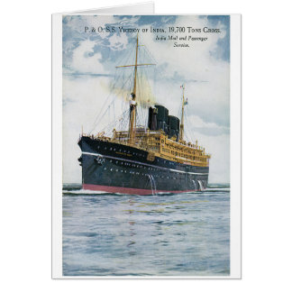 P&O S.S. Viceroy of India - Vintage Travel Poster Greeting Card