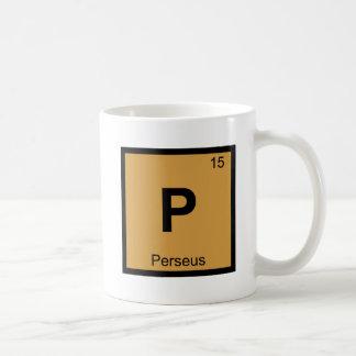 P - Perseus Greek Chemistry Periodic Table Symbol Basic White Mug