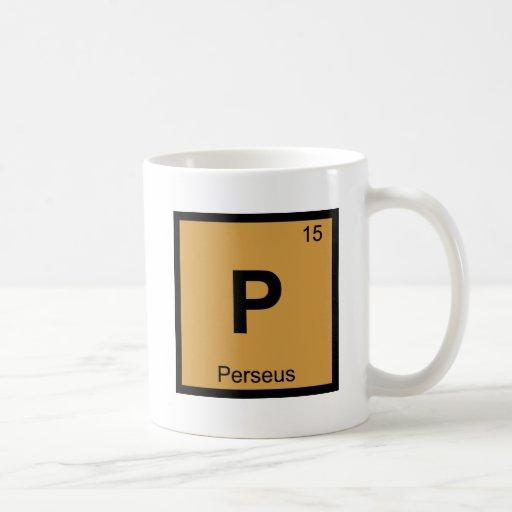 P - Perseus Greek Chemistry Periodic Table Symbol Coffee Mug