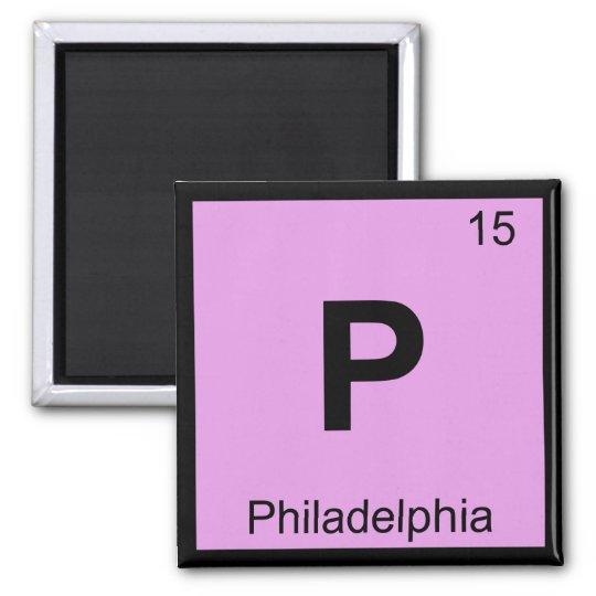 P - Philadelphia Pennsylvania Chemistry Periodic Magnet
