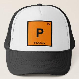 P - Phoenix City Chemistry Periodic Table Symbol Trucker Hat