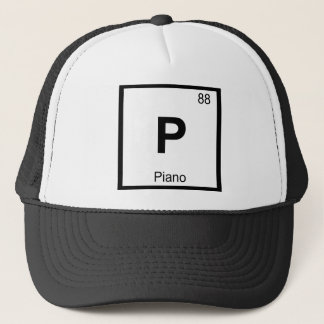 P - Piano Music Chemistry Periodic Table Symbol Trucker Hat